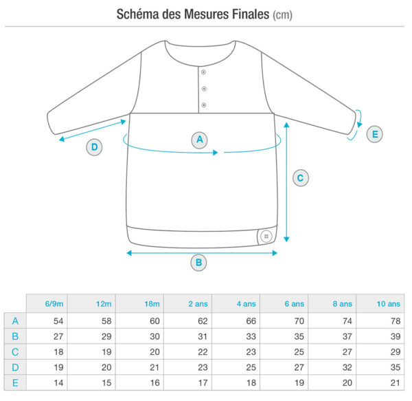 Charts and schematics of the Thistle sweater, a knitting pattern for a children sweater designed by Julie Partie