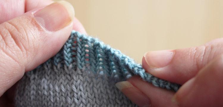 Rabattre à l'aiguille (sewn bind-off)