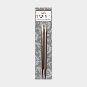 ChiaoGoo Twist Red Lace interchangeable circular needle tips in their packaging