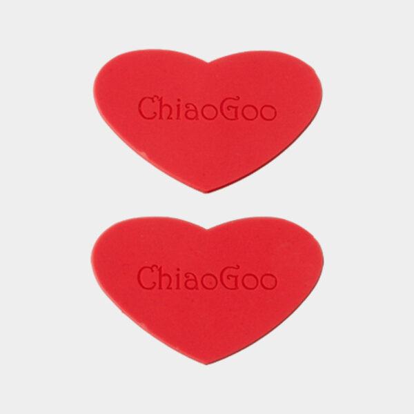 Grips de serrage en caoutchouc rouge en forme de coeur ChiaoGoo