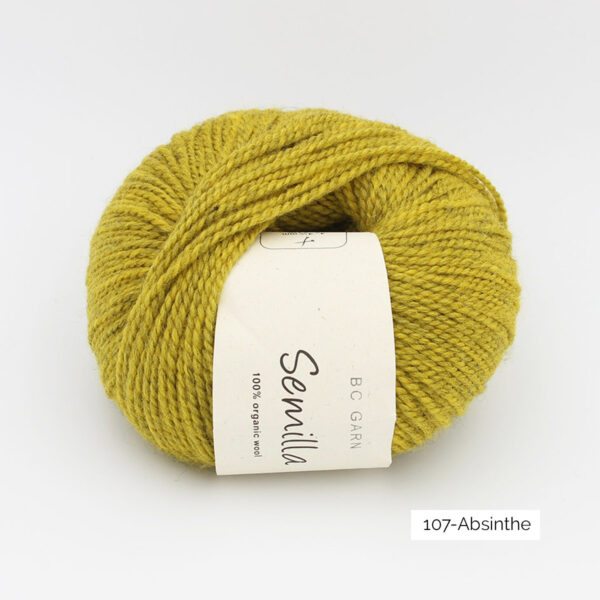 A ball of BC Garn Semilla, in the Absinthe colorway