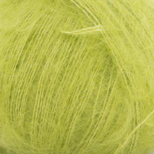 Gros plan sur une pelote de Silky Kid de Kremke coloris Granny Smith