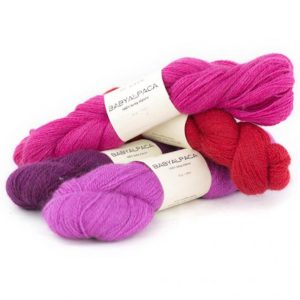 4 skeins of BC Garn Baby Alpaca, in assorted colours