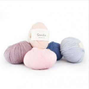5 balls of Semilla by BC Garn in different colours