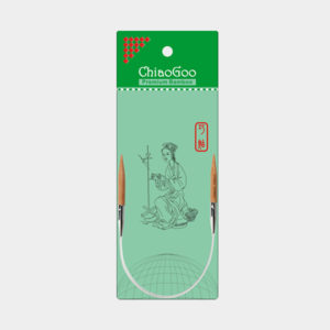 ChiaoGoo bamboo fixed mini-circular needles, 23 cm length, presented in their wrapping