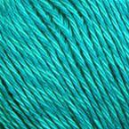 Gros plan sur le fil Allino de BC Garn, coloris 34 (turquoise)