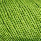 Gros plan sur le fil Allino de BC Garn, coloris 19 (vert avocat)