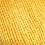 Gros plan sur le fil Allino de BC Garn, coloris 23 (jaune soleil)