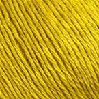 Gros plan sur le fil Allino de BC Garn, coloris (jaune tournesol)