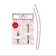 Package of ChiaoGoo Twist Mini Shorties combo presenting 2 pairs of needle tips and 2 cables