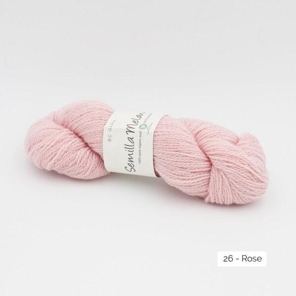 Un écheveau de Semilla Melange de BC Garn coloris Rose (rose layette)