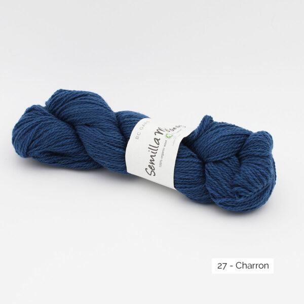 Un écheveau de Semilla Melange de BC Garn coloris Charron (bleu dur)