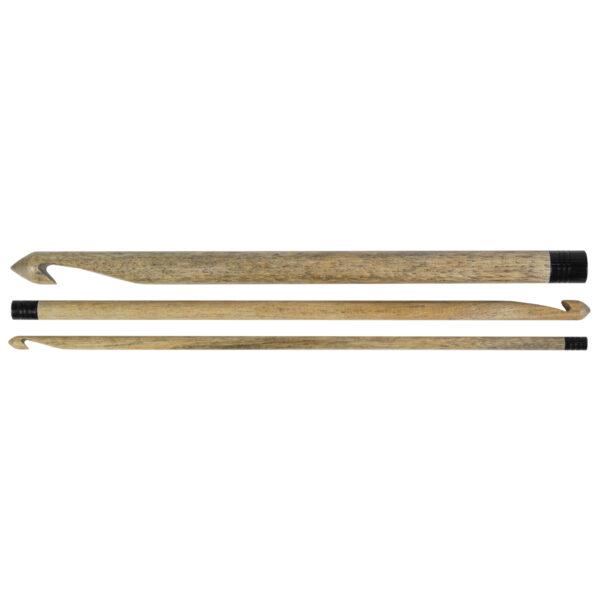 Trois crochets Lykke de tailles différentes, en bouleau finition bois flotté
