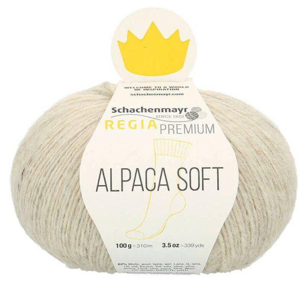 Une pelote de Regia Alpaca Soft coloris Naturel