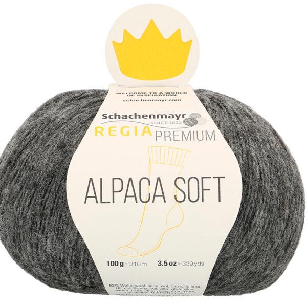 Une pelote de Regia Alpaca Soft coloris Anthracite