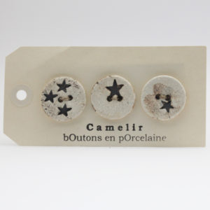 Boutons Camelir 2,5 cm (par 3)