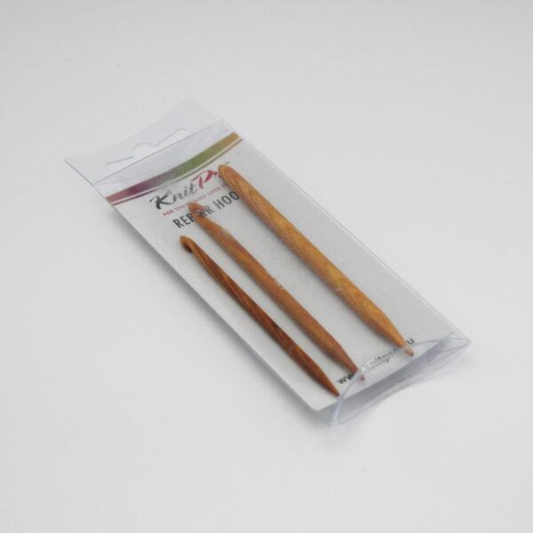 Kit de trois mini-crochets pour récupérer les mailles lâchées