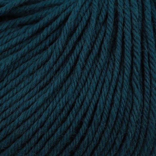 Zoom on a ball of Kremke Soul Wool's Bébé Soft Wash in the Indigo colorway