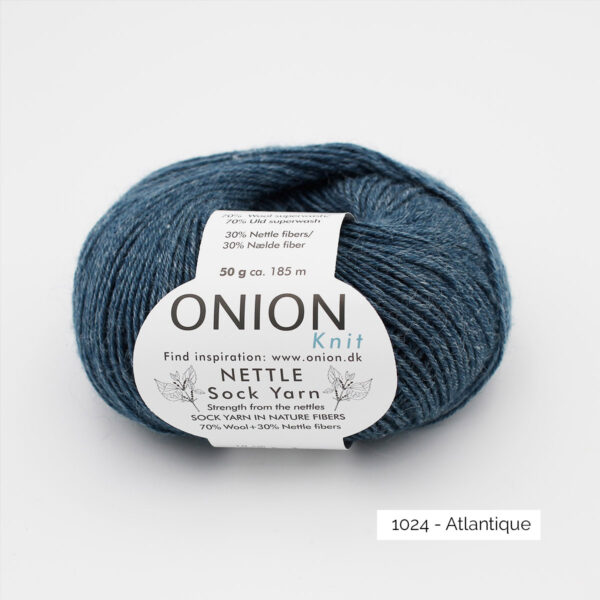 Une pelote de Nettle Sock Yarn d'Onion coloris Atlantique