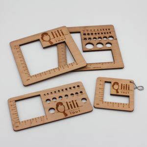 Gauge swatch ruler