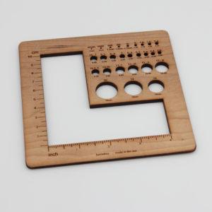 Gauge swatch ruler – Universal swatch gauge