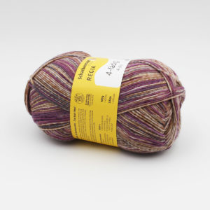 A ball of Regia's 4-ply (4-fädig) in the Wild Patina colorway