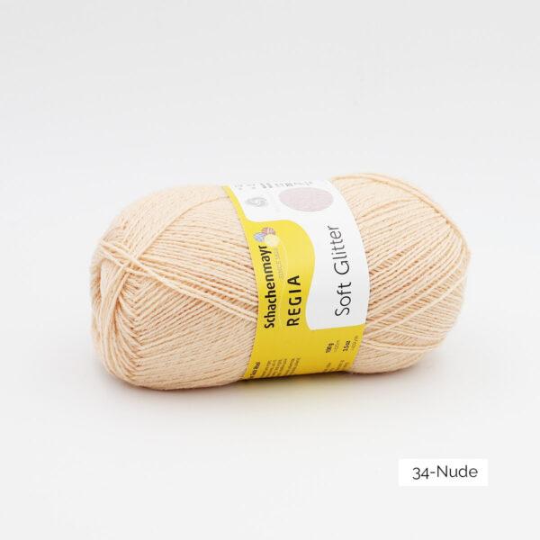 Une pelote de Soft Glitter de Regia coloris Nude