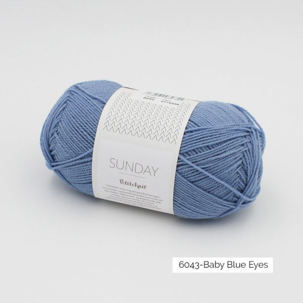 Pelote de Sunday by Petite Knit pour Sandnes Garn coloris Baby Blue Eyes