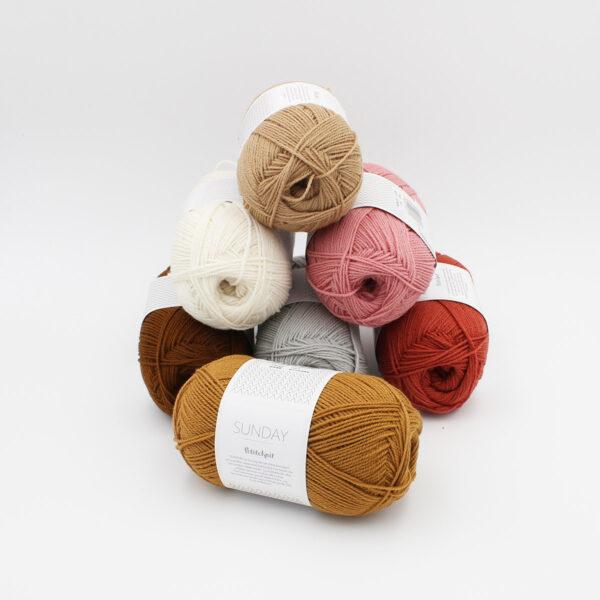 7 pelotes de Sunday by Petite Knit pour Sandnes Garn
