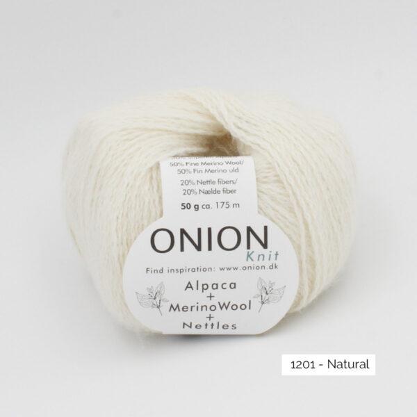 Une pelote d'Alpaca Merino Nettles d'Onion, coloris Natural