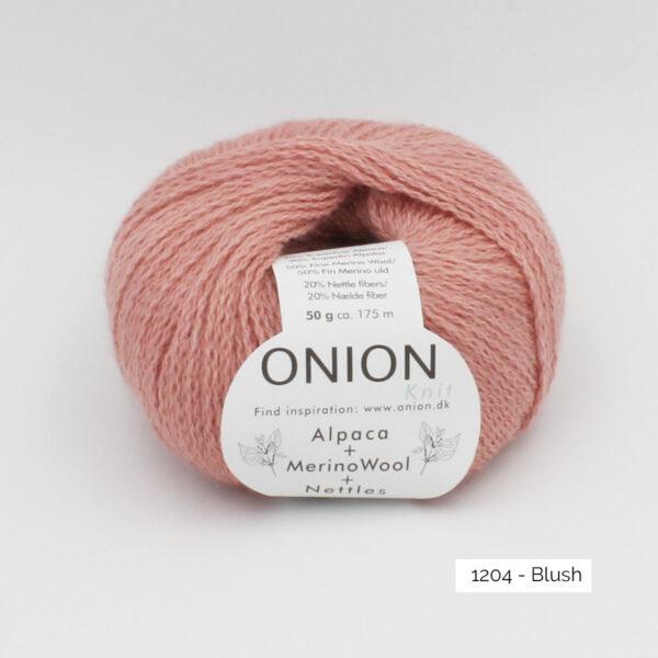 Une pelote d'Alpaca Merino Nettles d'Onion, coloris Blush
