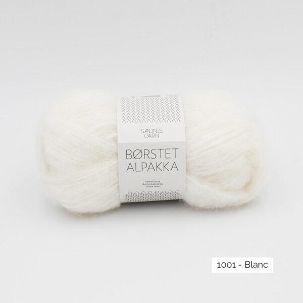 Pelote de Borstet Alpakka de Sandnes Garn coloris Blanc