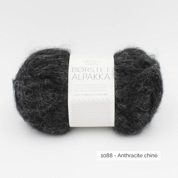 Pelote de Borstet Alpakka de Sandnes Garn coloris Anthracite Chiné
