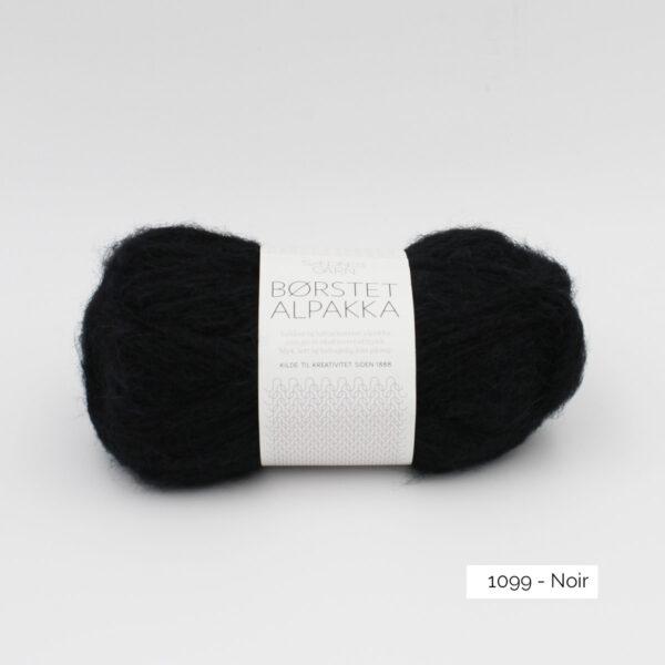 Pelote de Borstet Alpakka de Sandnes Garn coloris Noir