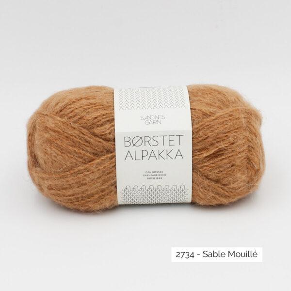 Pelote de Borstet Alpakka de Sandnes Garn coloris Sable Mouillé