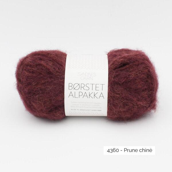 Pelote de Borstet Alpakka de Sandnes Garn coloris Prune Chiné