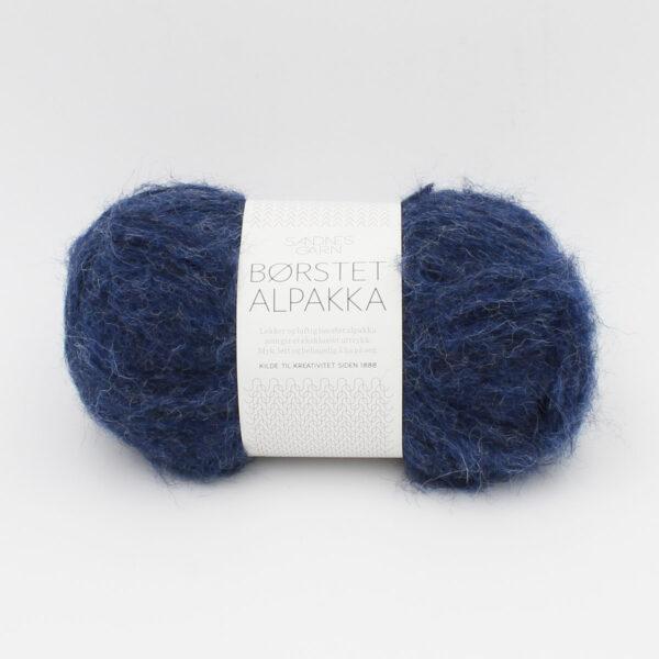 Pelote de Borstet Alpakka de Sandnes Garn coloris Cobalt