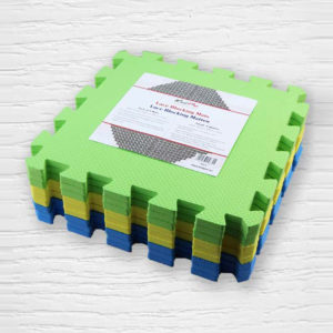 Display of a set of Knit Pro foam tiles used to create a modular blocking mat