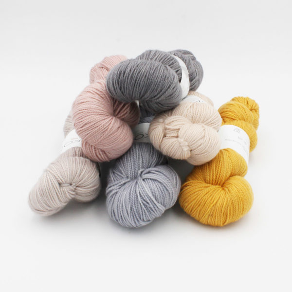 6 skeins of Kokon's Merino Fingering in assorted colorways