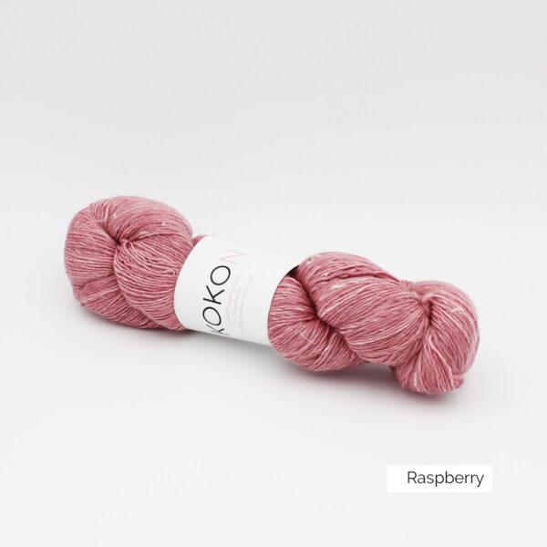 Un écheveau de Kokon Merino Linen coloris Rapsberry (framboise clair)