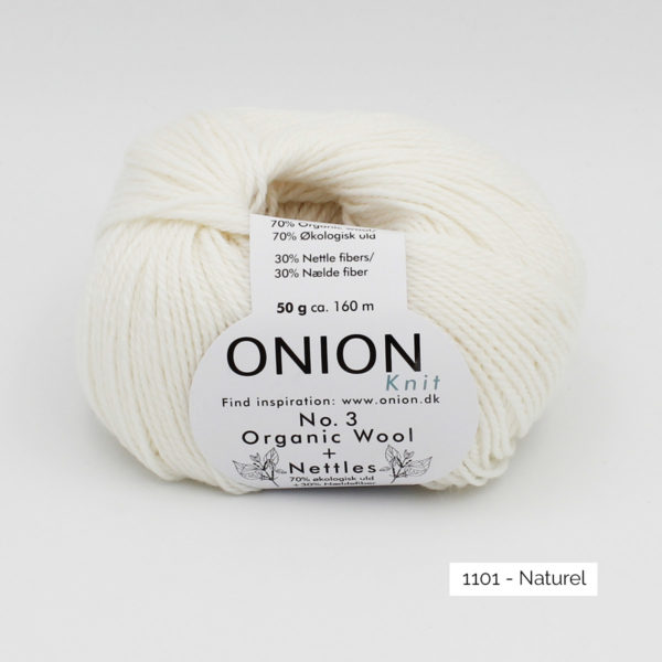 Une pelote d'Organic Wool + Nettles n°3 d'Onion coloris Naturel