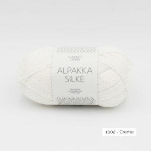 Pelote d'Alpakka Silke de Sandnes Garn coloris Creme