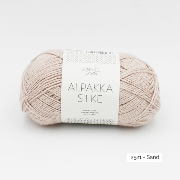 Sandnes Garn Alpakka Silke ball in the colorway Sand