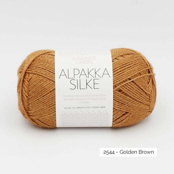 Sandnes Garn Alpakka Silke ball in the colorway Golden Brown
