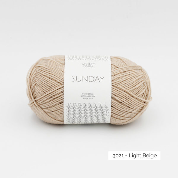 Pelote de Sunday by Petite Knit pour Sandnes Garn coloris Light Beige