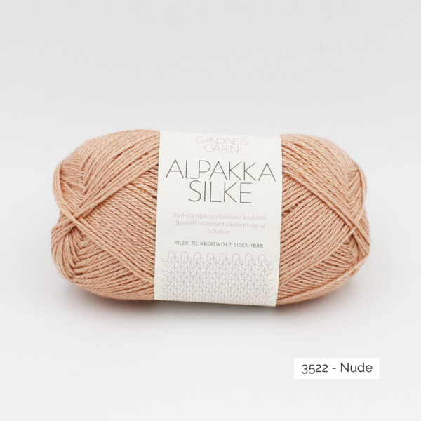 Sandnes Garn Alpakka Silke ball in the colorway Nude