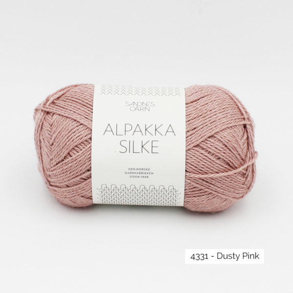 Sandnes Garn Alpakka Silke ball in the colorway Dusty Pink
