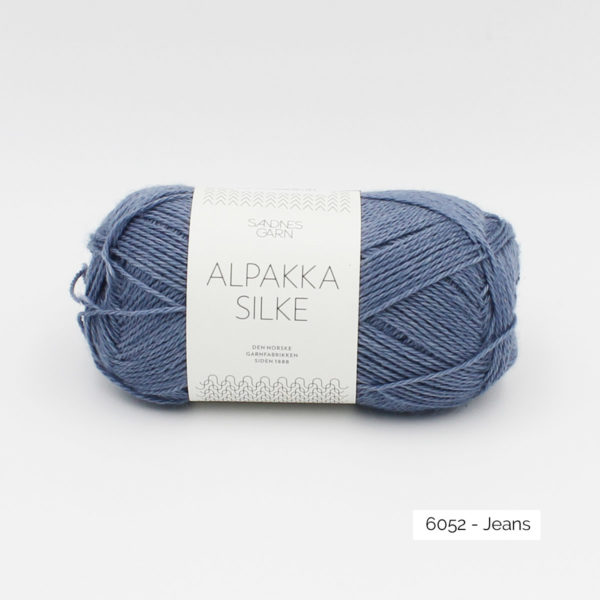 Sandnes Garn Alpakka Silke ball in the colorway Jeans
