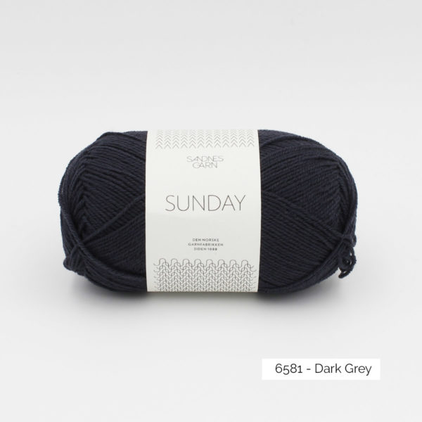 Pelote de Sunday by Petite Knit pour Sandnes Garn coloris Dark Grey