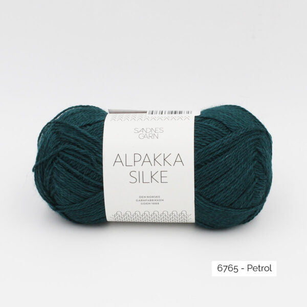 Sandnes Garn Alpakka Silke ball in the colorway Petrol